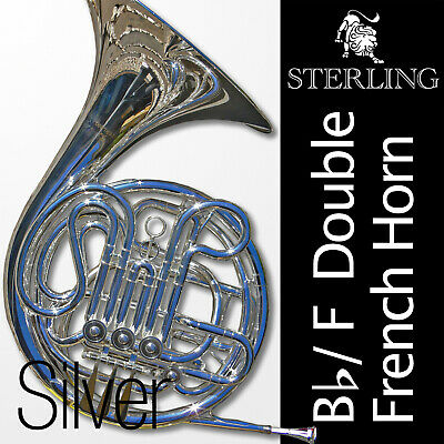 GOLD • Bb/F Double FRENCH HORN • STERLING Pro Quality • Brand New • With Case •