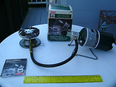 """""""COLEMAN"""" PROPANE PACK STOVE, # 5450A700 , COMPLETE IN BOX WORKS PERFECTLY"""