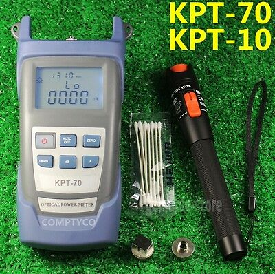 Fiber Optical Power Meter + 10mW 10km Visual Fault Locator Cable Tester