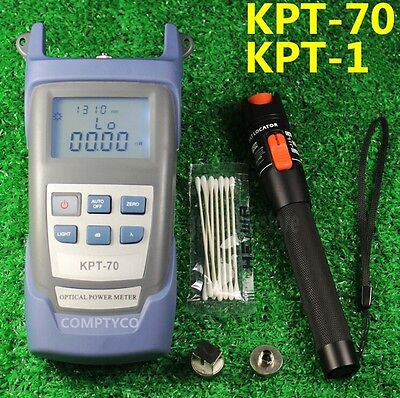 Fiber Optical Power Meter + 1mW 5km Visual Fault Locator Cable Tester New