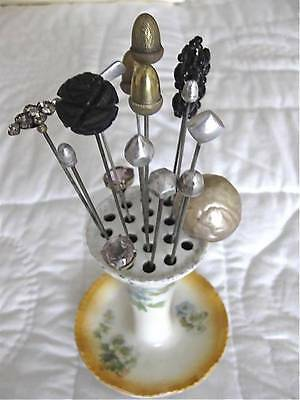 Collection {16} Antique/Vintage Hat Pins & Hat Pin Holder