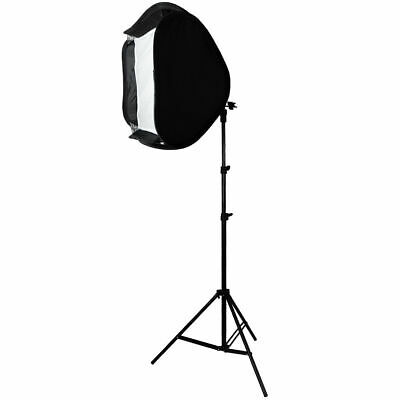 "Photo Studio 24"" Softbox with 7ft Light Stand Kit For Speedlite Flash Speedlight"