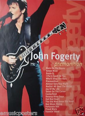 "JOHN FOGERTY ""PREMONITION"" U.S. PROMO POSTER - Creedence Clearwater Revival"