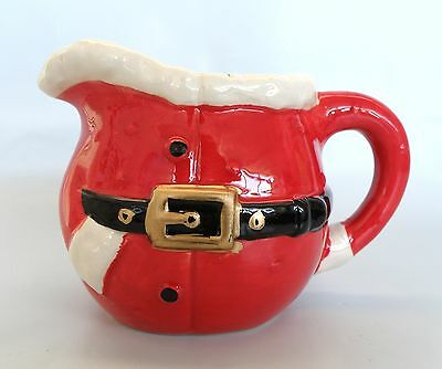 Ceramic Santa Christmas Milk Jug   *New*