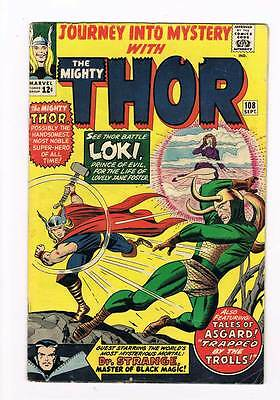 Journey into Mystery # 108 Kirby Thor grade 5.0 - movie super scarce hot book !!