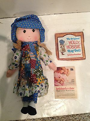 Vintage 80s Holly Hobbie,Cabbage Patch Kids Afro-American,Kermit The Frog Dolls