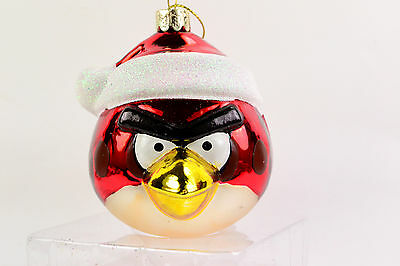 Red Angry Bird 4' Glass Christmas Ornament - NEW LT01