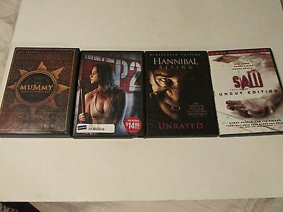T24 DVD Movie Lot - The Mummy - P2 - Hannibal Rising - Saw