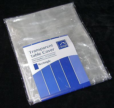 """NEW TRANSPARENT TABLECLOTH COVER CLEAR WIPE CLEAN 54"""" x 72"""" RECTANGLE 1090"""