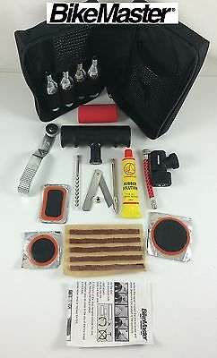 BikeMaster Motorcycle Tire Repair Kit Harley Davidson Air Tube Patch Inflate