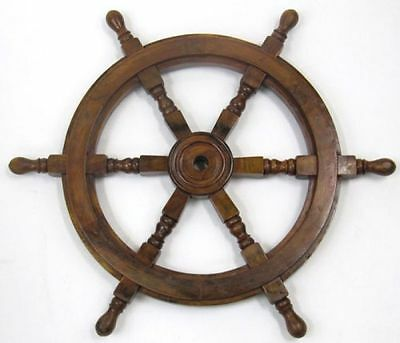 "24"" Wood Ship Wheel ~ Nautical Maritime Decor ~ Pirate Captain Decor"