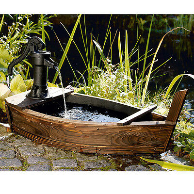 holzfass wasserpumpe holzbrunnen springbrunnen holz garten brunnen fass pumpe. Black Bedroom Furniture Sets. Home Design Ideas