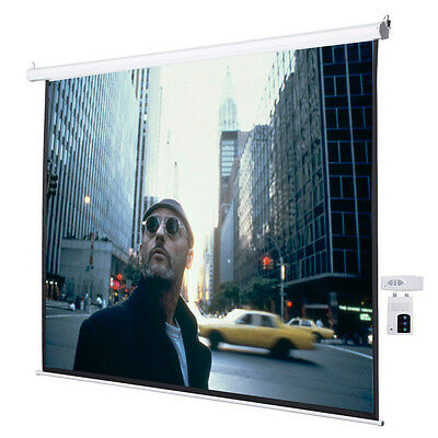 "120"" 4:3 Electric Auto Projector Projection Screen 96""x72"" Remote Control"