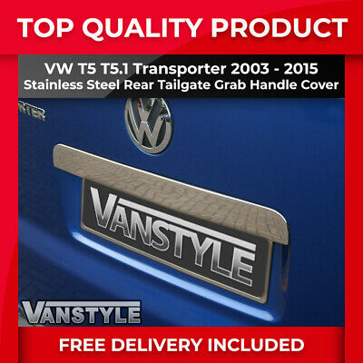 Vw T5 Transporter Chrome Rear Grab Handle Cover Stainless Steel Tailgate Door
