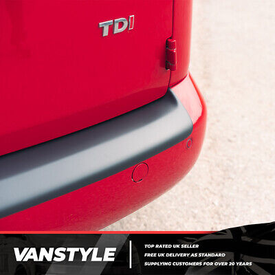 Vw Caddy / Maxi 04-10 &10-15 Rear Bumper Protector Tough Abs Black Stops Damage