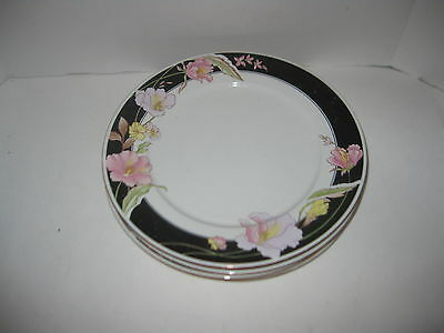 4 CHINA PEARL 1990 ALICE PATTERN CCA 8860 DINNER PLATES  EUC