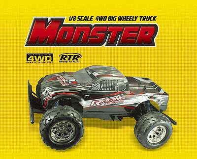 1/8 SCALE RADIO CONTROLLED EP R/C 4WD MONSTER TRUCK RTR RC CAR NEW