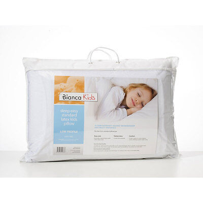 BIANCA Kids Sleep Easy Talalay Latex Pillow - Low / Soft Non allergenic  NEW