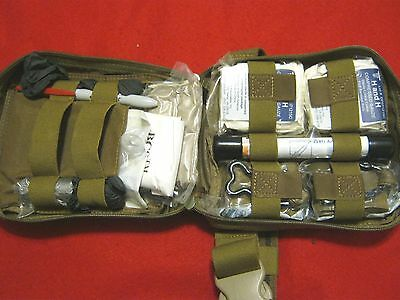 COMBAT CASUALTY RESPONSE KIT  MEDIC DROP LEG COYOTE WITH CONTENTS