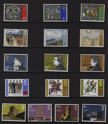 GB 1971 Commemorative Year set Unmounted Mint