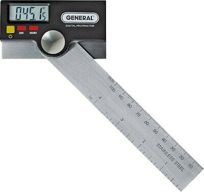 "New General Tool 1702 6"" Digital Protractor Lcd Display Stainless Sale New"