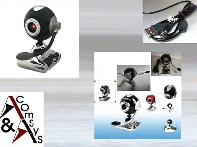 USB Web Cam Camera Webcam mit Mikrofon Clip PC Laptop Skype MSN 30MPixel Ball