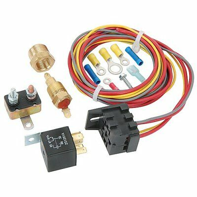 JEGS Performance Products 10560 Single Fan Wiring Harness & Relay Kit