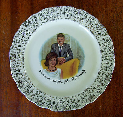 President and Mrs. John F. Kennedy  Collector Plate - by W. S. George