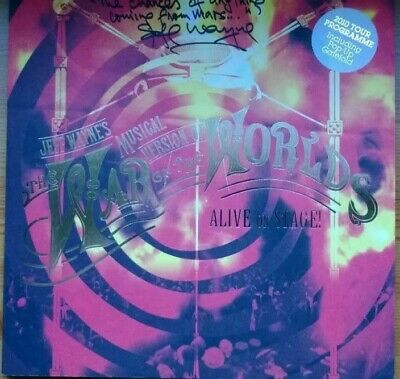 Jeff Wayne's War Of The Worlds 2010 Tour Programme - Signed & Messaged By Jeff
