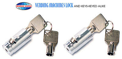 2-Dixie Narco, Vendo, Pepsi, Coke, Dr Pepper Soda machine Vending Lock and Keys