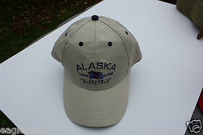 Ball Cap Hat - Alaska - Flag - 50 years Statehood - 2009 - with Tag (H1216)