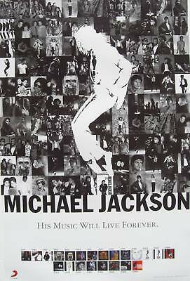 "MICHAEL JACKSON ""HIS MUSIC WILL LAST FOREVER"" HONG KONG PROMO POSTER-Shots of MJ"