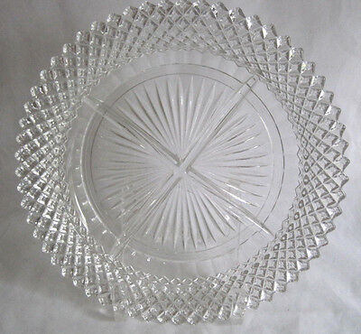 Hocking Miss America Depression Glass Divided 4 Part Dish Plate Relish
