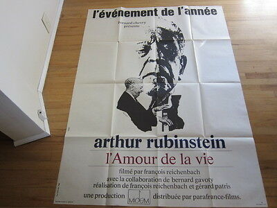 ARTHUR RUBINSTEIN Documentary movie poster Love of Life original French poster