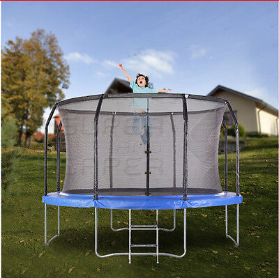 NEW 12ft Round Trampoline +Safety Net+Ladder+Spring Pad Cover
