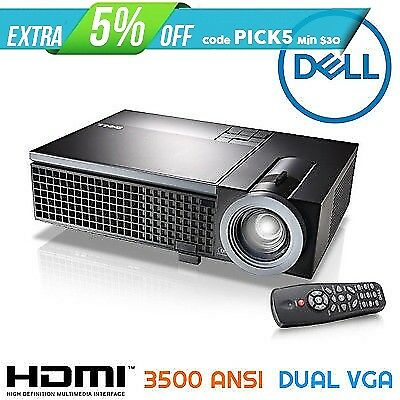 Dell 1510x DLP Projector 3500 ANSI | HDMI | NETWORK | DUAL VGA | LOW HOURS