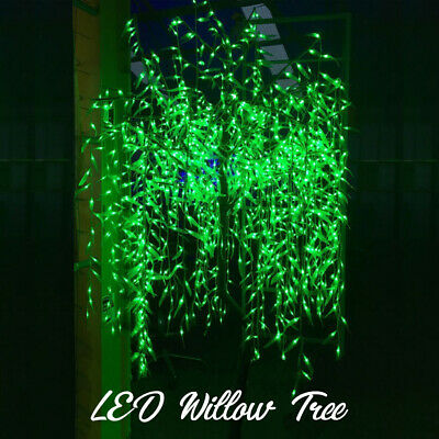 2.8m 1,440 LED Willow Tree Christmas Icicle lights GREEN