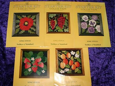 Twilleys of Stamford LONG STITCH  Kit POPPY APRICOTS PANSIES GRAPES STRAWBERRY