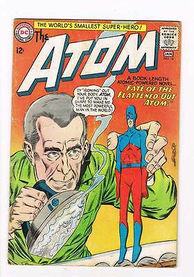 Atom # 16 Fate of the Flattened-Out Atom! kane cover! grade - 4.5 Silver Age DC!