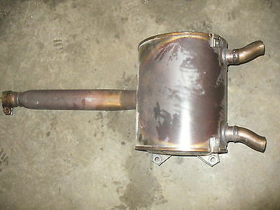 Yamaha 2006 nytro exhaust pipe muffler canister OEM