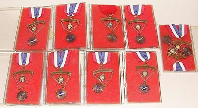 10 1970'S KNIGHTS OF COLUMBUS COLUMBIETTES WOMEN'S INAUGURATION MEDALS & RIBBONS