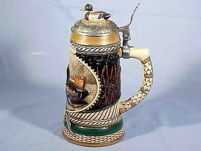 1992 Bert Graves Mallards Lidded Stein - Made In Brazil