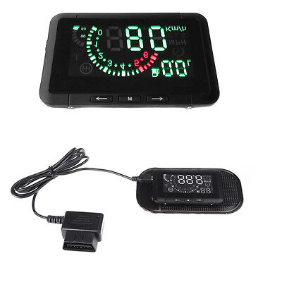 Car Vehicle Head Up Display HUD System OBDⅡ Overspeed Warning Fuel Consumption