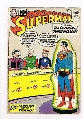 Superman # 147 The Great Mento! grade - 3.5 DC Silver Age bargain scarce!