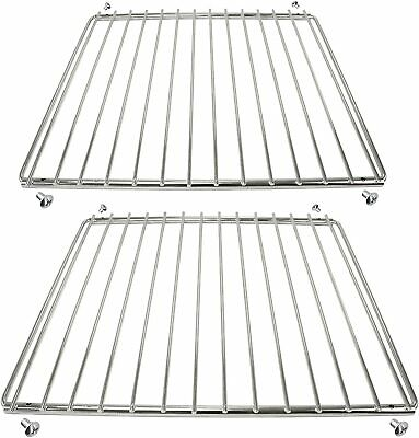 2 x BBQ Adjustable Grill Shelf Rack Extendable Screw Fix Arms Barbecue Grid Tray