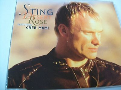 Sting  Desert Rose Feat Cheb Mami  Cd's Mint- 4 Tracks + 1 Video