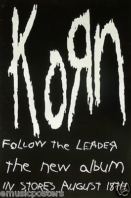 "Korn ""follow The Leader-The New Album In Stores Aug. 18"" Large U.s. Promo Poster"