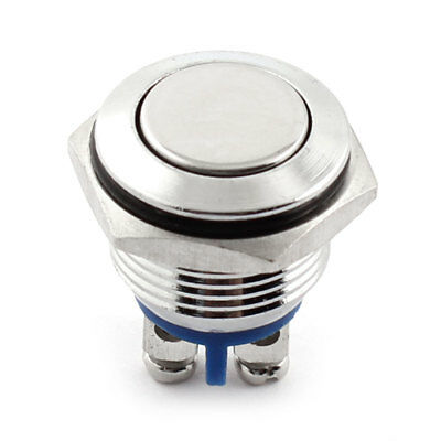 16mm Flat Top Button Momentary SPST Car Metal Push Button Switch
