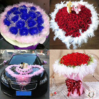 Beauty Feather Boa Fluffy Flower Craft Costume Dressup Wedding Party Home Decor