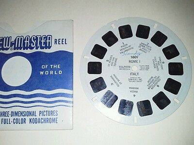 1940s Sawyers Viewmaster 3D Stereo 1601 reel Rome I Italy real photos